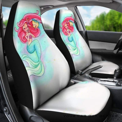 Ariel The Little Mermaid Car Seat Covers Cartoon Fan Gift - Cute Design, Universal Fit