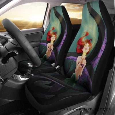 Ariel The Little Mermaid Cartoon Car Seat Covers - Cute Design, Universal Fit