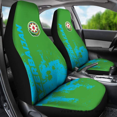 Azerbaijan Car Seat Covers Smudge Style Bn1510 - Cute Design, Universal Fit