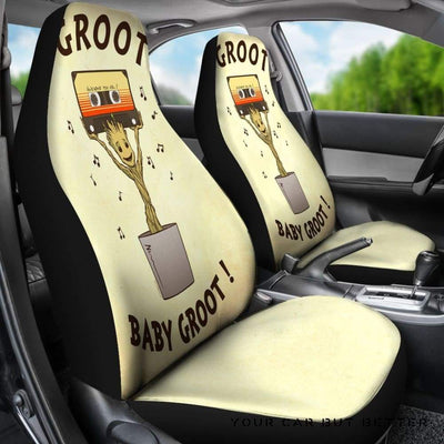 Baby Groot Car Seat Covers 1 - Cute Design, Universal Fit