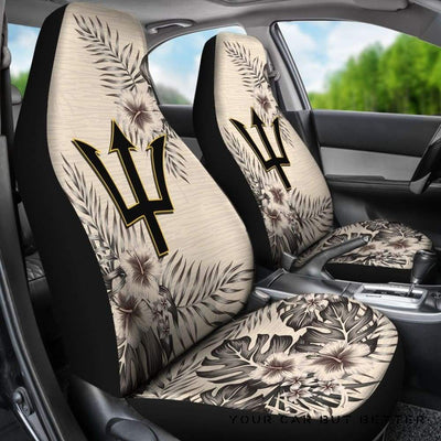 Barbados Car Seat Covers The Beige Hibiscus (Set Of Two) A7 Style 2 - Cute Design, Universal Fit