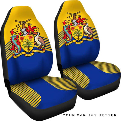 Barbados Coat Of Arms Car Seat Covers J2 - Cute Design, Universal Fit
