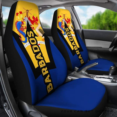 Barbados National Symbols Car Seat Covers (Set Of 2) A0 - Cute Design, Universal Fit