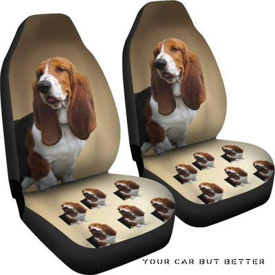 Basset Hound Car Seat Cover - Cute Design, Universal Fit