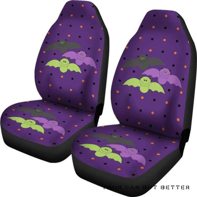 Bat Halloween Car Seat Covers Style 1 - Cute Design, Universal Fit