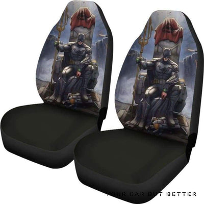 Batman Car Seat Covers Style 2 - Cute Design, Universal Fit