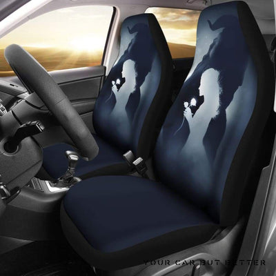 Beauty And The Beast Car Seat Covers Cartoon Fan Gift Style 2 - Cute Design, Universal Fit