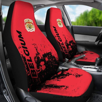 Belgium Car Seat Covers Smudge Style Bn1510 - Cute Design, Universal Fit