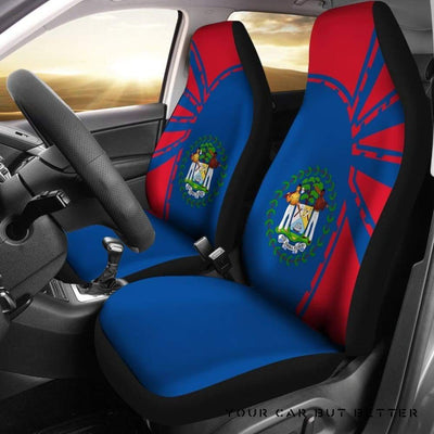 Belize Car Seat Covers Premium Style Th5 - Cute Design, Universal Fit