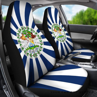 Belize Coat Of Arms Car Seat Covers A5 - Cute Design, Universal Fit