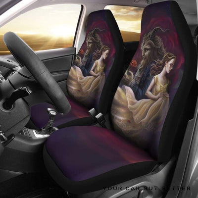 Belle And Beast Art Beauty And The Beast Car Seat Covers - Cute Design, Universal Fit