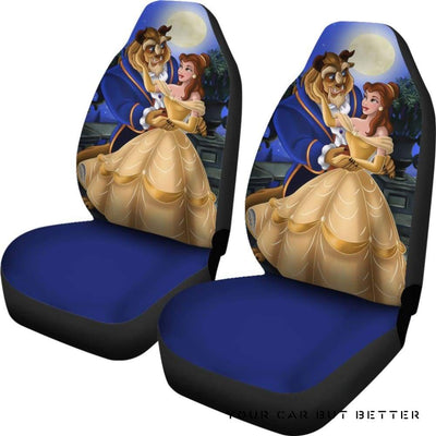 Belle And Beast Beauty And The Beast Car Seat Covers - Cute Design, Universal Fit