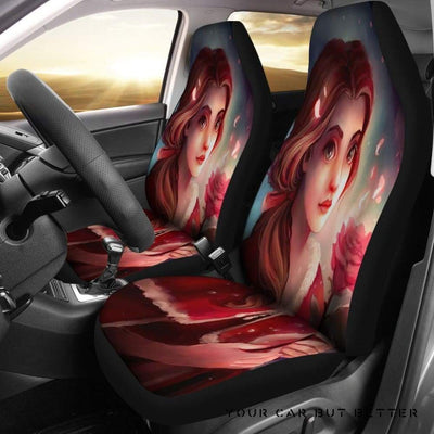 Belle Beauty And The Beast Cartoon Car Seat Covers - Cute Design, Universal Fit