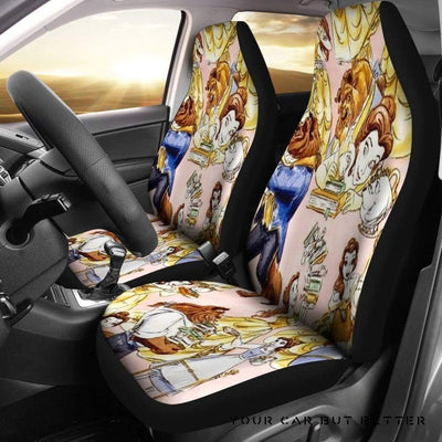 Belle Princess Cartoon Car Seat Covers Cartoon - Cute Design, Universal Fit