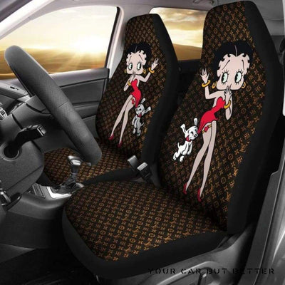 Betty Boop Car Seat Covers Style 7 - Cute Design, Universal Fit