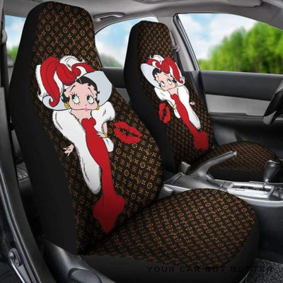 Betty Boop Car Seat Covers Style 10 - Cute Design, Universal Fit