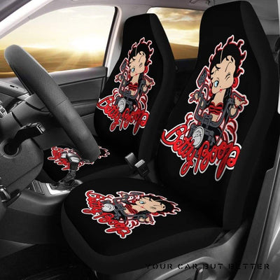 Betty Boop Ride Motorbike Car Seat Covers Cartoon - Cute Design, Universal Fit