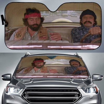 Cheech And Chong's - Custom Funny  Auto Window Shades, Windshield Cover, Sun Protector, retractable sunshades, Sun shade for Car