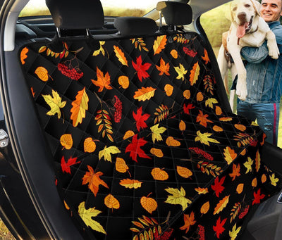 Autumn Leaves Dog Seat Covers For Car
