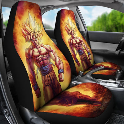 Goku Super Saiyan Dragon Ball Car Seat Covers 4 - Cute Design, Universal Fit