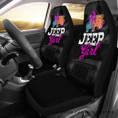 Jeep Girl Car Seat Covers - Cute Design, Universal Fit