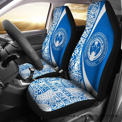 Northern Mariana Islands 01 J4 (Set Of 2) - Automotive Seat Covers, Customizable Car Seat Covers