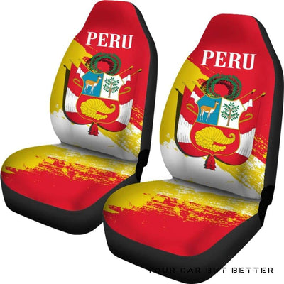 (Piruw Republika) Peru Special Car Seat Covers A7 - Cute Design, Universal Fit