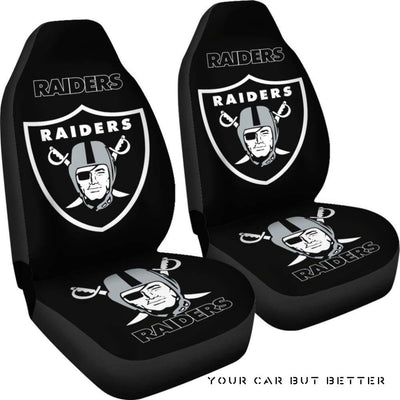 Raiders Logo Car Seat Covers - Cute Design, Universal Fit