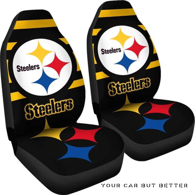 Steelers Car Seat Covers - Cute Design, Universal Fit