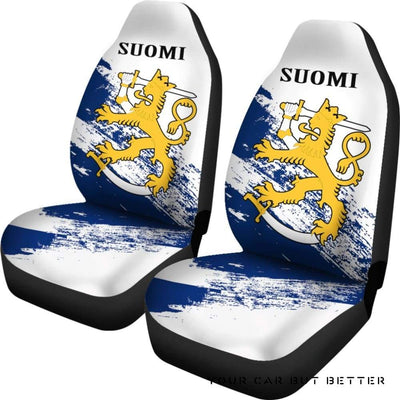 (Suomi) Finland Special Car Seat Covers (Set Of Two) A7 - Cute Design, Universal Fit