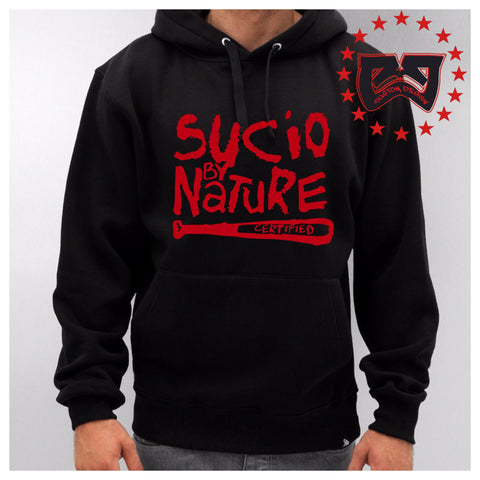 SUCIO BY NATURE PULLOVER HOODY SWEATER - CJ CUSTOM DESIGNS