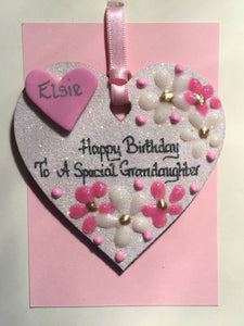 Grandaughter's birthday keepsake heart