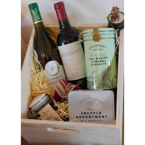 Wine Lovers Hamper Packed in Wooden Case