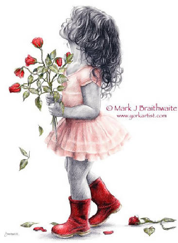 Rosebud, A Big Kiss For...... (30x40cm print)