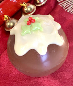 Christmas Pudding detailed Hot Chocolate Bomb