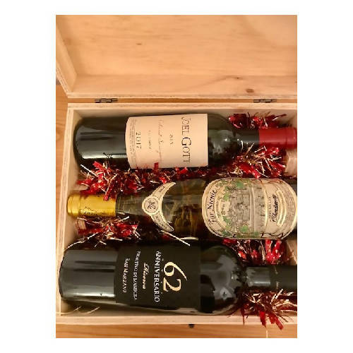 Christmas Wines Packed in Wooden Case
