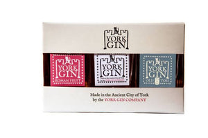 York Gin triple mini gift pack 3 x 5cl bottles