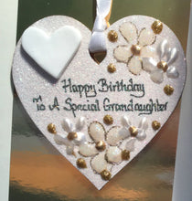 Load image into Gallery viewer, Grandaughter's birthday keepsake heart