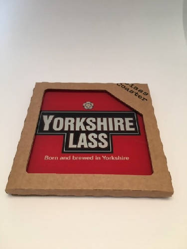 YORKSHIRE LASS GLASS COASTER
