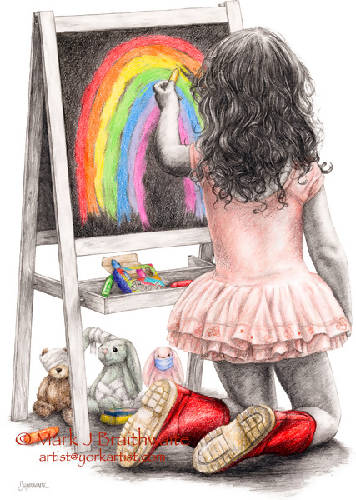 Rosebud, Sing a Rainbow supporting NHS Charities Together (40x50cm print)