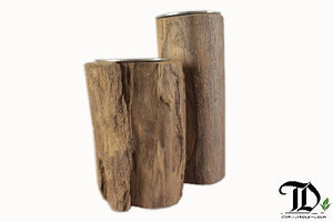 Tealight Candle Holders - Set of 2 - Reclaimed Teak Wood