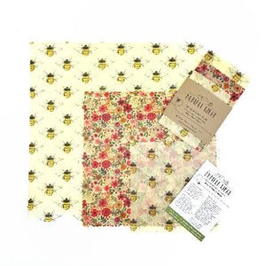 Bumble Wrap Beeswax wraps Kitchen pack BEE