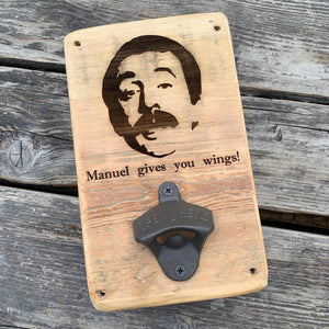 Personalised - Reclaimed Wood, Wall Mounted Bottle Opener