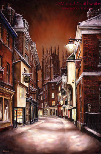 Silent Night, Low Petergate by Mark Braithwaite