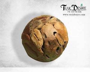 Reclaimed Teak Chip Ball - 30cm