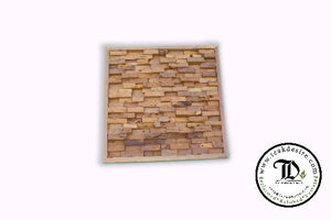 Square Wall Art Decor - Reclaimed Teak Wood - CLEARANCE