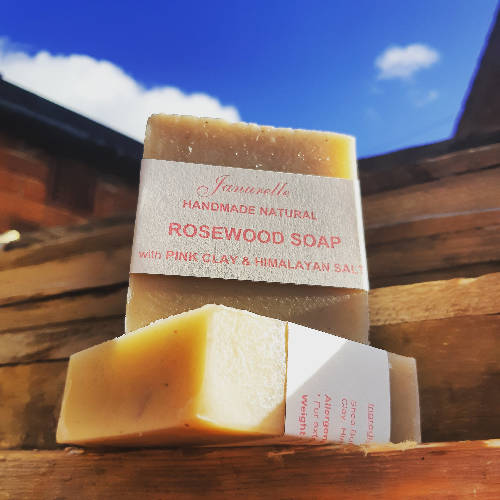 Rosewood and pink clay soap