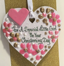 Load image into Gallery viewer, Christening Day Keepsake Heart