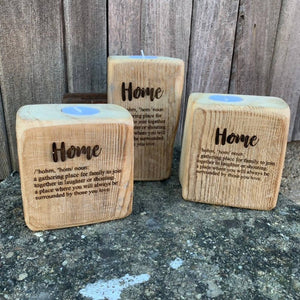 Home Definition - Reclaimed timber tealight holder