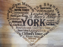 Load image into Gallery viewer, York inspired chopping board